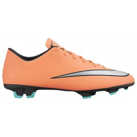 Nike Mercurial Victory V FG - Men's Soccer Cleats - Bright Mango/Hyper Turquoise/Metallic Silver 51632803