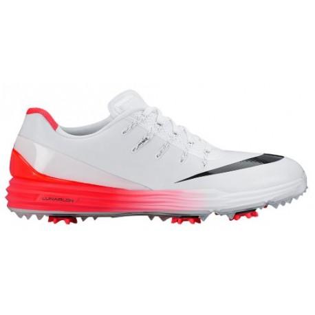 Nike Lunar Control 4 Golf Shoes - Men's - Golf - Shoes - White/Bright Crimson/Black-sku:19037100
