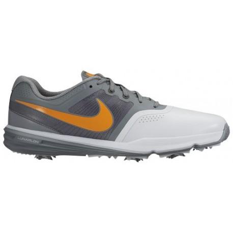 Nike Lunar Command Golf Shoes - Men's - Golf - Shoes - Pure Platinum/Cool Grey/Anthracite/Vivid Orange-sku:04427005
