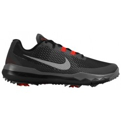 Nike TW '15 Golf Shoe - Men's - Golf - Shoes - Black/White/Challenge Red/Dark Grey-sku:4884001