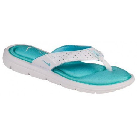 Nike Comfort Thong - Women's - Casual - Shoes - White/Polarized Blue-sku:54925143