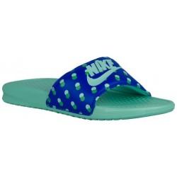 Nike Benassi JDI Slide - Women's - Casual - Shoes - Racer Blue/Hyper Turquoise-sku:18919433
