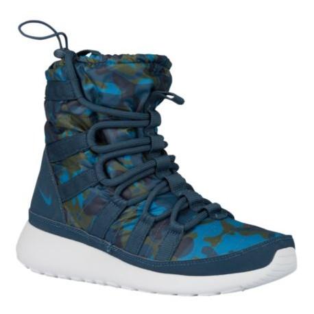 Nike Roshe One Hi - Women's Squadron Blue/Brigade Blue/Carbon Green/Platinum 07425400