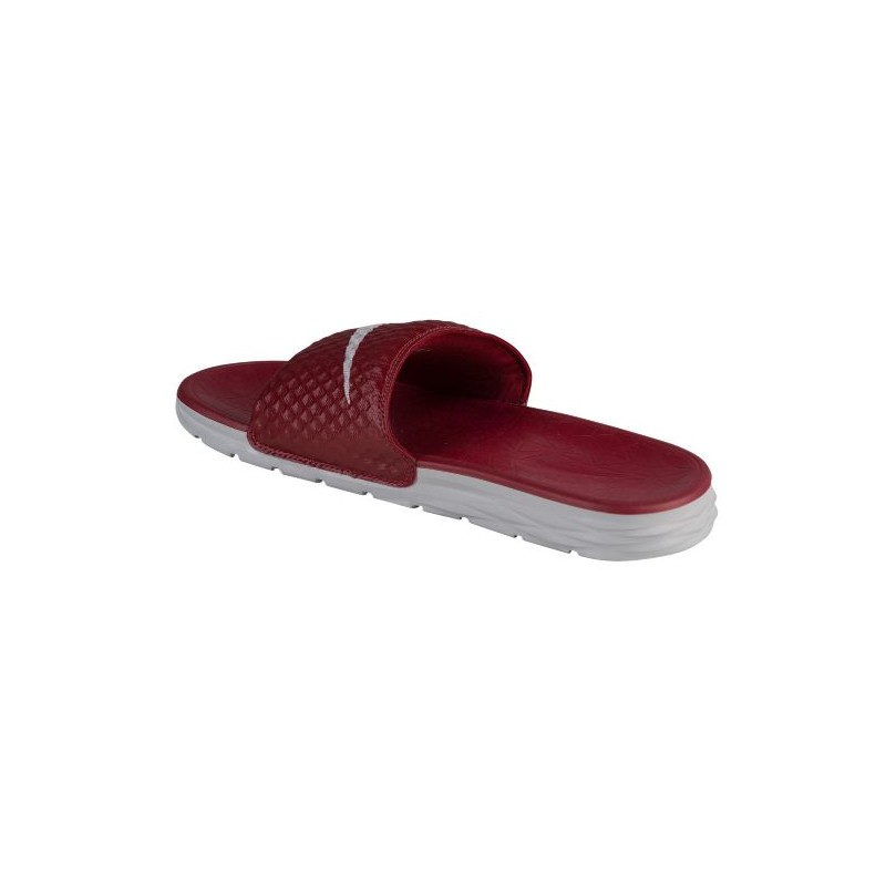 ... Nike Benassi Solarsoft Slide 2 - Men's - Casual - Shoes - Team Red/Wolf  ...