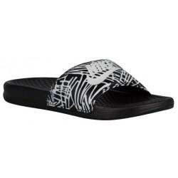 Nike Benassi JDI Slide - Women's - Casual - Shoes - Black/White-sku:18919011