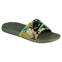 Nike Benassi JDI Slide - Men's - Casual - Shoes - Carbon Green/Militia Green/Bamboo-sku:31261323