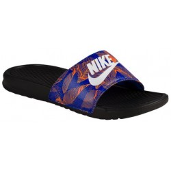 Nike Benassi JDI Slide - Men's - Casual - Shoes - Black/Racer Blue/White-sku:31261014