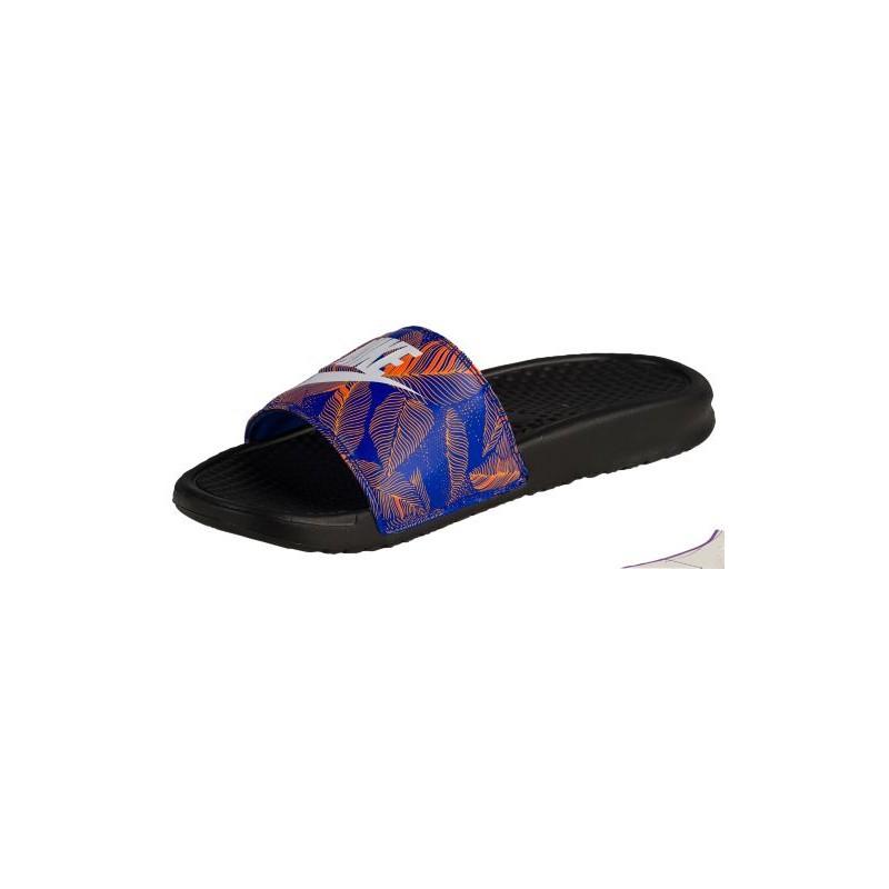 Nike Benassi JDI Slide  Mens  Casual  Shoes  BlackRacer Blue