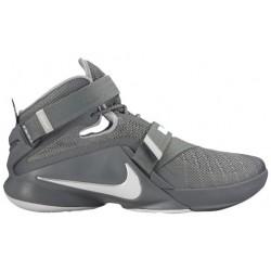 Nike Zoom Soldier 9 - Men's - Basketball - Shoes - LeBron James - Cool Grey/Dark Grey/Pure Platinum-sku:49417003