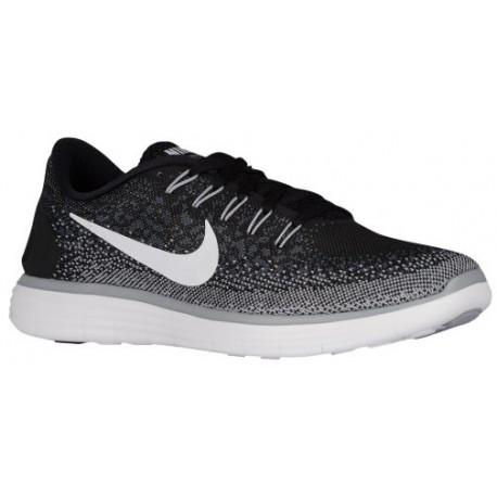 Nike Free RN Distance - Men's - Running - Shoes - Black/White/Dark Grey/Wolf Grey-sku:27115010