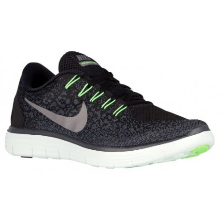 competitive price 41c70 88e8e green black nike shoes,Nike Free RN Distance - Men s - Running - Shoes -  Black Metallic Pewter Barely Green Voltage Green-sku 2