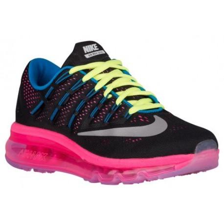 wholesale dealer 77b89 a632f Nike Air Max 2016 - Girls' Grade School - Running - Shoes - Black/Reflect  Silver/Pink Pow/Volt-sku:07237006