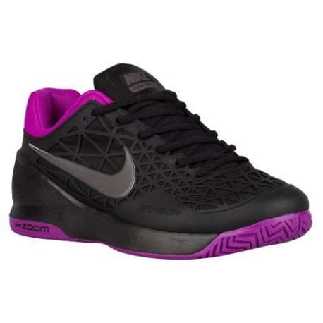 Womens Shoes Nike Zoom Cage 2 Black/Vivid Purple/Midnight Fog