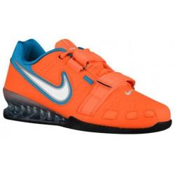 Nike Romaleos II Power Lifting - Men's - Training - Shoes - Total Orange/White/Blue Lagoon-sku:76927814