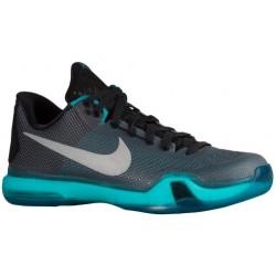 Nike Kobe X - Men's - Basketball - Shoes - Kobe Bryant - Black/Metallic Silver/Radiant Emerald-sku:05317002