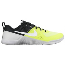 Nike MetCon 1 - Men's - Training - Shoes - Volt/White/Black/Pure Platinum-sku:04688710