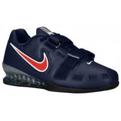 Nike Romaleos II Power Lifting - Men's - Training - Shoes - Obsidian/Sport Red/White-sku:76927460
