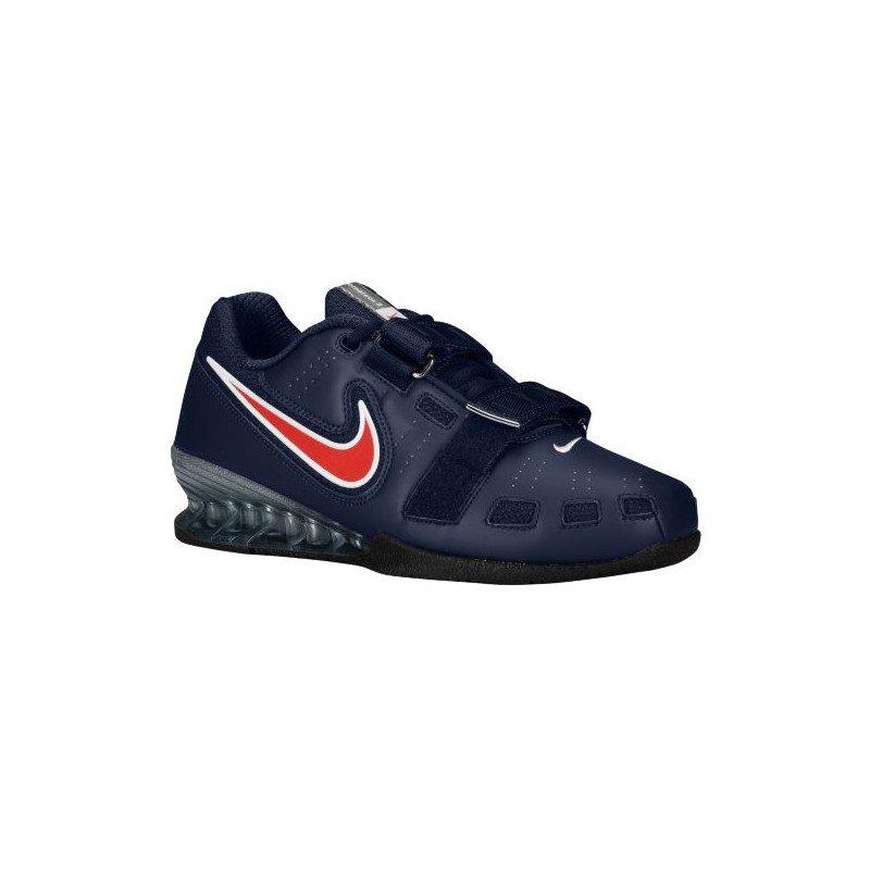 Nike Romaleos II Power Lifting - Men's - Training - Shoes - Obsidian/Sport  Red ...
