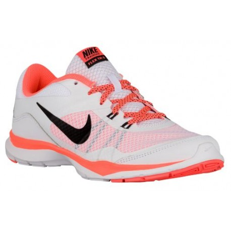 Nike Flex Trainer 5 - Women's - Training - Shoes - White/Bright Mango/Black-sku:24858100