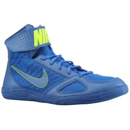 Nike Takedown Men Blue Sapphire/Volt Wrestling Shoes