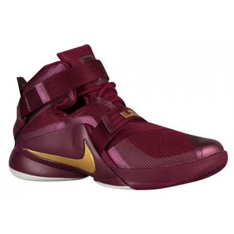 big sale 7ae41 3025c Nike Zoom Soldier 9 - Men's - Basketball - Shoes - LeBron James - Deep  Garnet/Metallic Gold/Black-sku:49490670