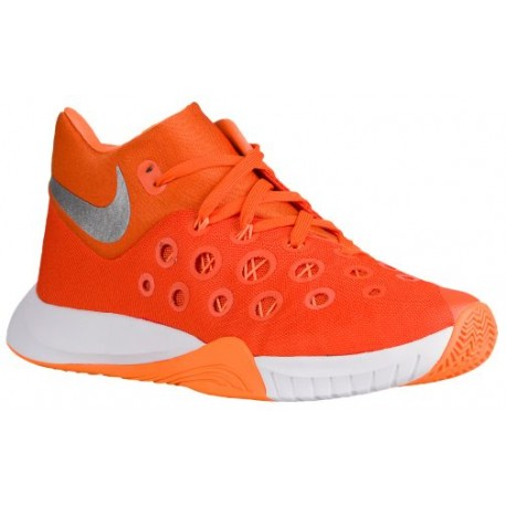 Online Cheap Basketball Shoes Mens Nike Zoom Hyperquickness 2015 Orange Glaze/Metallic Silver/Bright Citrus