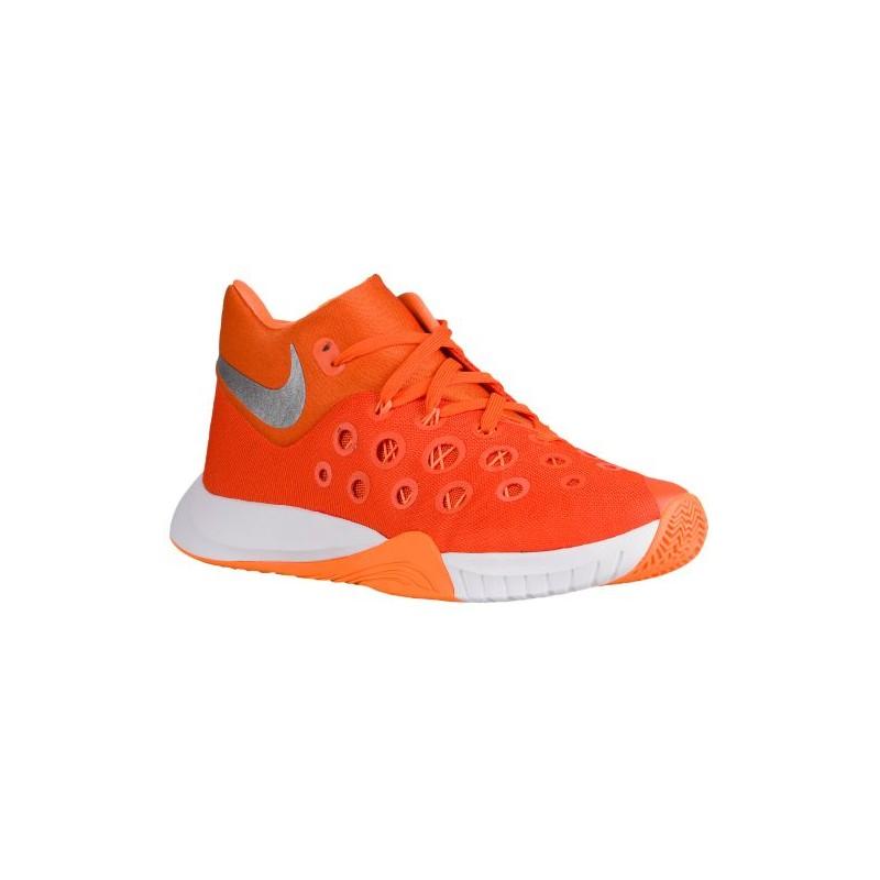 Nike Zoom Hyperquickness 2015 - Men's - Basketball - Shoes - Orange Glaze/Metallic  Silver ...