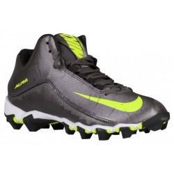 Nike Alpha Shark 2 3/4 - Boys' Grade School - Football - Shoes - Metallic Dark Grey/White/Black-sku:19953010
