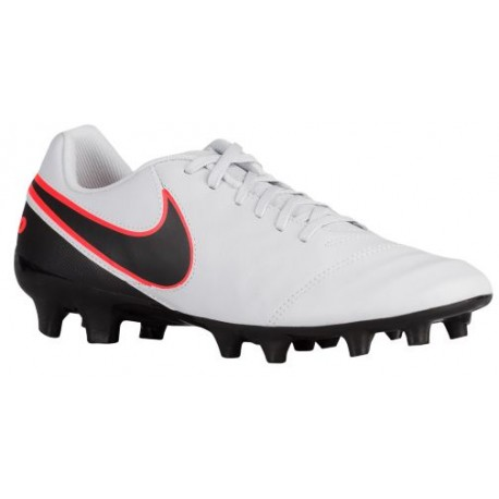 f26ac4afd4899 Nike Tiempo Genio II Leather FG - Men's - Soccer - Shoes - Pure  Platinum/Black/Metallic Silver/Hyper Orange-sku:19213001