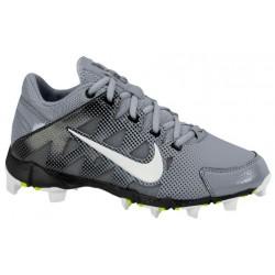 Nike Hyperdiamond Keystone - Girls' Grade School - Softball - Shoes - Stealth/White/Light Graphite/Volt-sku:84681011