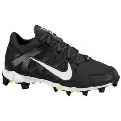 Nike Hyperdiamond Keystone - Girls' Grade School - Softball - Shoes - Black/White/Black-sku:84681010