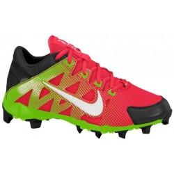 Nike Hyperdiamond Keystone - Girls' Grade School - Softball - Shoes - Atom Red/Black/Electric Green/White-sku:84681610