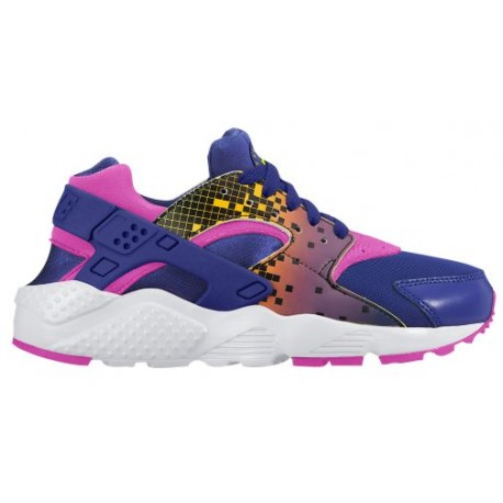 Nike Huarache Run - Girls' Grade School - Running - Shoes - Deep Night/Fire Pink/Bright Crimson/Volt-sku:04946500