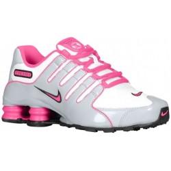 Nike Shox NZ - Girls' Grade School - Running - Shoes - White/Black/Wolf Grey/Vivid Pink-sku:10480100