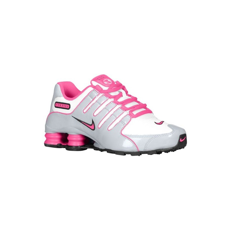 6d235bbd1a ... Nike Shox NZ - Girls' Grade School - Running - Shoes - White/Black ...