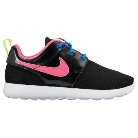 Nike Roshe One - Girls' Preschool - Running - Shoes - Black/Pink Pow/Vivid Pink/White/Volt-sku:49422011