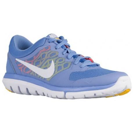 Nike Flex Run 2015 Women's Running Shoes Chalk BlueHyper OrangeVarsity MaizeWhite sku:09021406