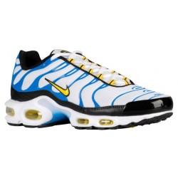 Nike Air Max Plus - Men's - Running - Shoes - White/Tour Yellow/Photo Blue/Black-sku:04133133