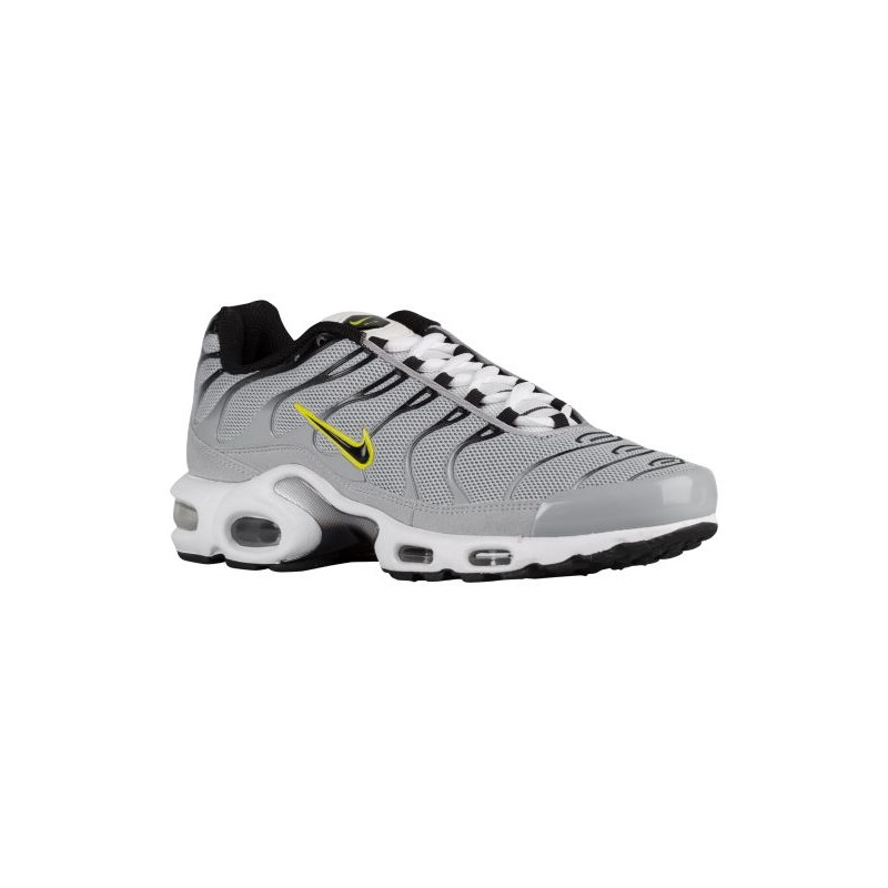 Nike Air Max Plus Mens Wolf Grey/Met Silver/Laser Orange/Sonic Yellow Running Shoes V98864