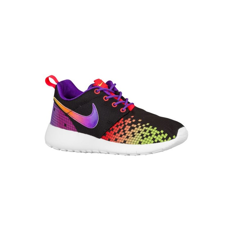 new concept 97277 945c3 Nike Roshe One - Girls' Grade School - Running - Shoes - Black/White/Hyper  Violet/Volt/Bright Crimson-sku:77784003