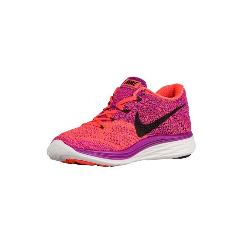 ... Nike Flyknit Lunar 3 - Women's - Running - Shoes - Vivid Purple/Hyper  Orange ...
