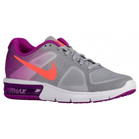 Womens Shoes Nike Air Max Sequent Wolf Grey/Vivid Purple/White/Hyper Orange