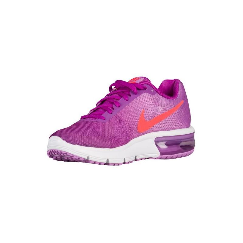 ... Nike Air Max Sequent - Girls' Grade School - Running - Shoes - Vivid  Purple ...