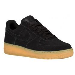 Nike Air Force 1 Low - Men's - Basketball - Shoes - Black/Black/Gum Light Brown-sku:88298098