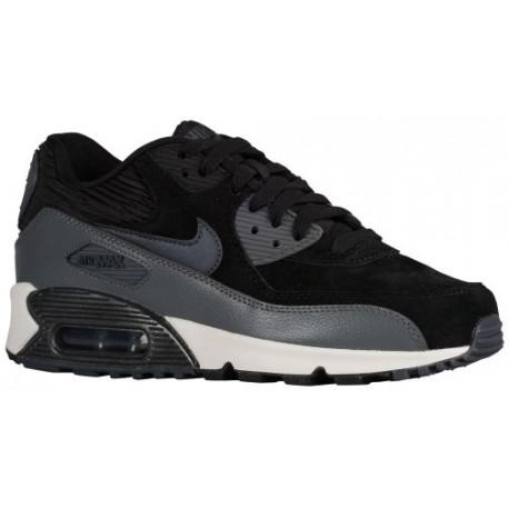 Nike Air Max 90 Women's Running Shoes BlackMetallic HematiteDark Grey sku:68887001
