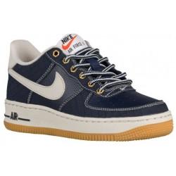 Nike Air Force 1 Low - Boys' Grade School - Basketball - Shoes - Obsidian/Gum Light Brown/Light Bone-sku:48981401