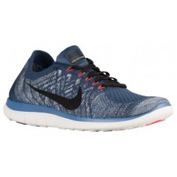 Nike Free 4.0 Flyknit 2015 - Men's - Running - Shoes - Squadron Blue/Ocean Fog/Total Crimson/Black-sku:17075403