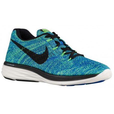 the best attitude 52a53 272e1 Nike Flyknit Lunar 3 - Men's - Running - Shoes - Racer Blue/Voltage  Green/Sail/Black-sku:98181404