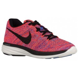 Nike Flyknit Lunar 3 - Women's - Running - Shoes - Hyper Orange/Racer Blue/University Blue/Black-sku:98182801