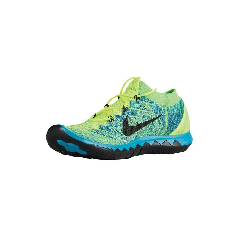 ... Nike Free 3.0 Flyknit 2015 - Men's - Running - Shoes - Volt/Blue Lagoon  ...